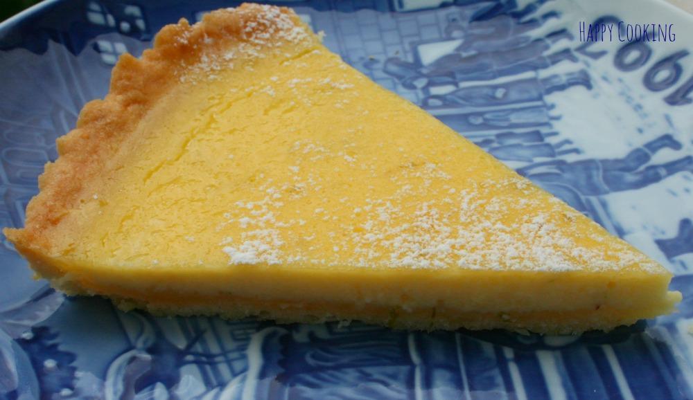 Tarte crème au citron