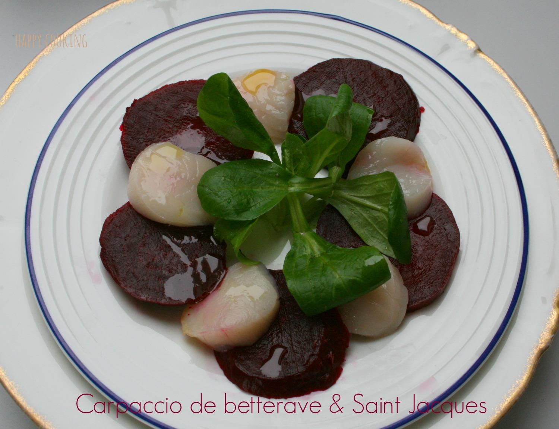 Carpaccio de saint jacques et betteraves happy cooking - Carpaccio de saint jacques ...