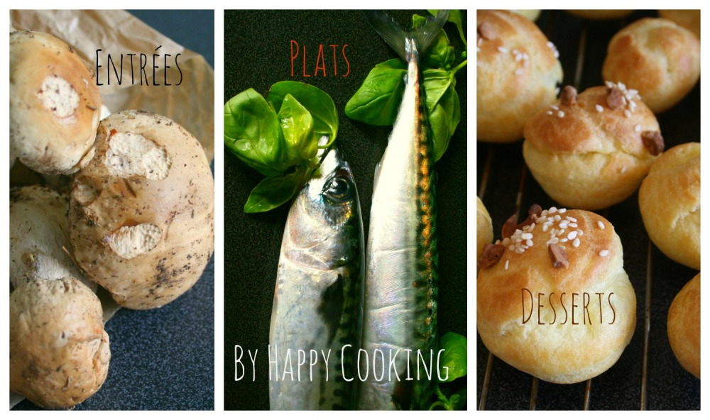 Index des recettes Happy Cooking