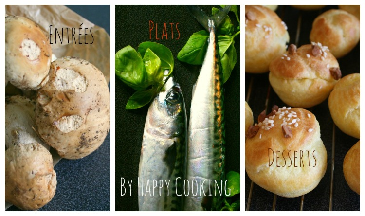 Index des recettes Happy Cooking