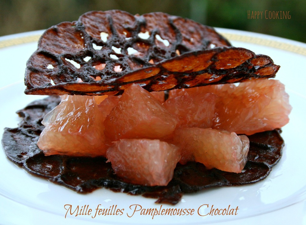 Mille feuille pamplemousse chocolat