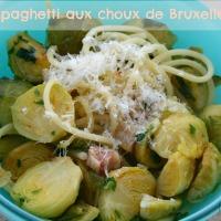 Spaghetti carbonara aux choux de Bruxelles