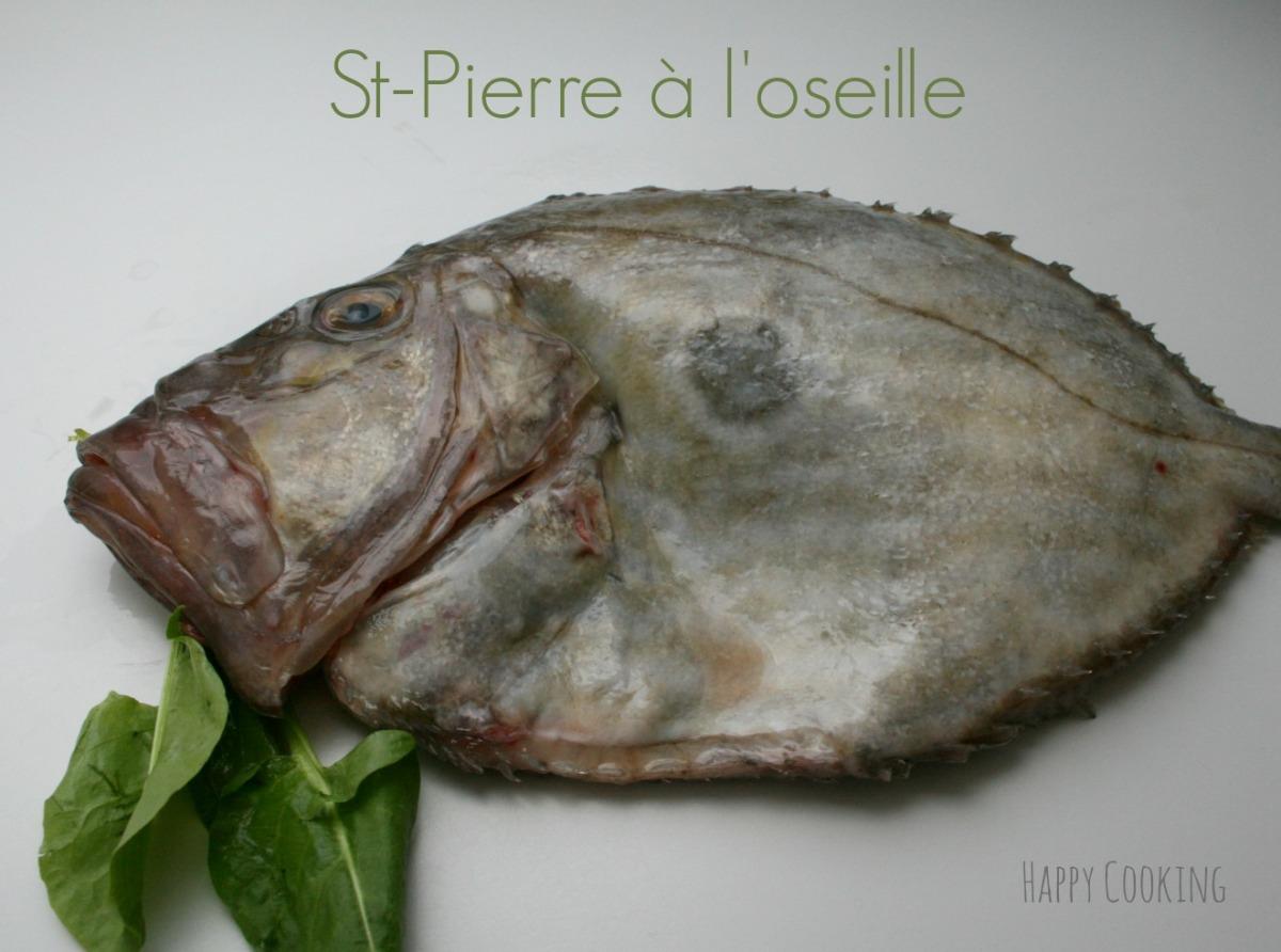 Saint Pierre au four sauce à l'oseille