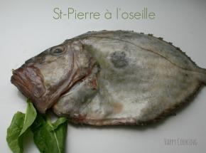 Saint Pierre au four sauce àl'oseille
