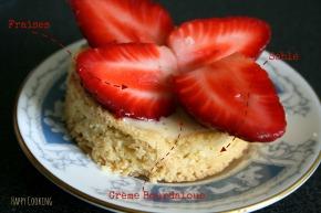 Sablé aux fraises crèmeBourdaloue