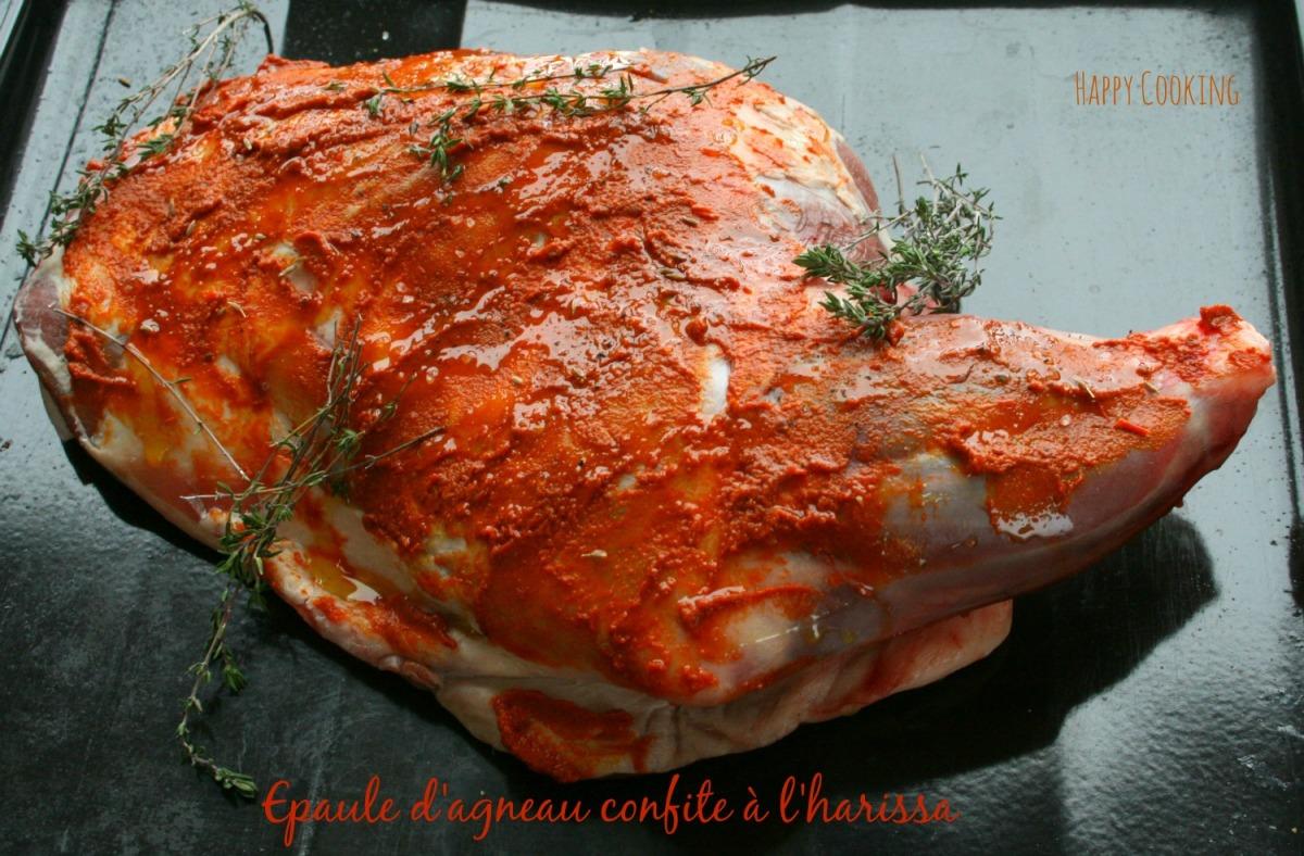 Epaule d agneau au four la harissa happy cooking - Sardines au four sans odeur ...