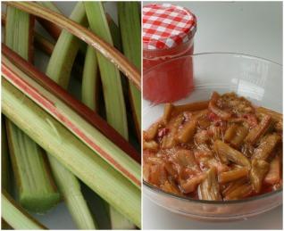 rhubarbe confite