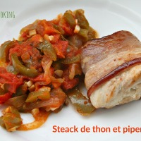 Tournedos de thon et piperade